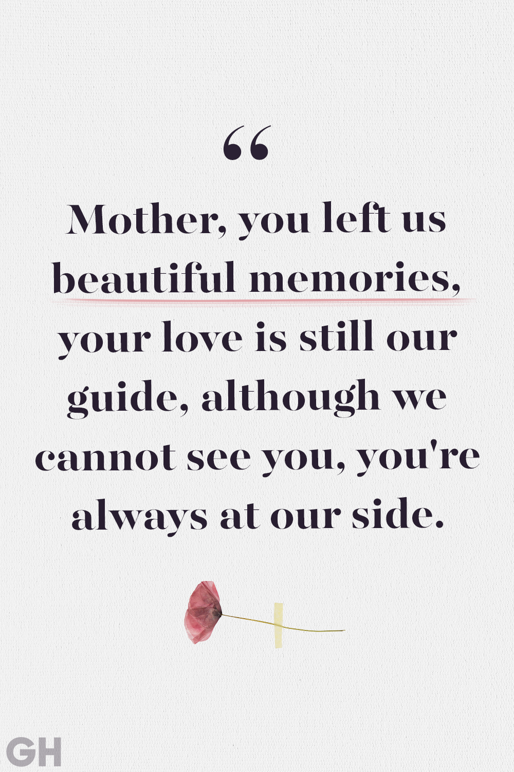 Loss of Mother Quotes Beautiful Memories