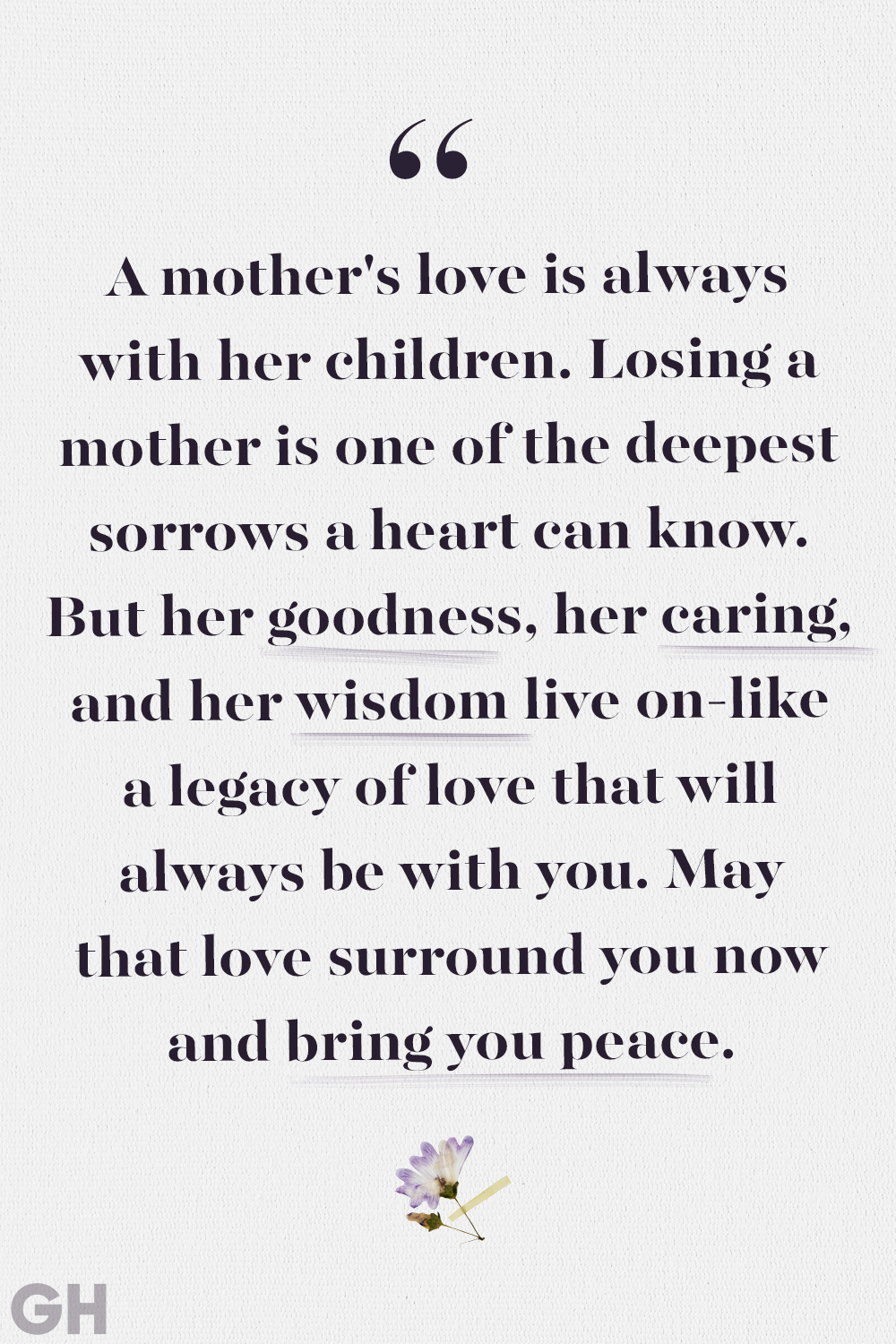 17 Comforting Loss of Mother Quotes - Quotes to Remember Moms Who