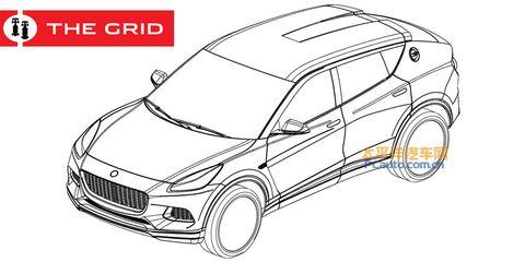 Land vehicle, Car, Automotive design, Vehicle, Motor vehicle, Line art, Automotive light bulb, Technical drawing, Model car, Automotive fog light,