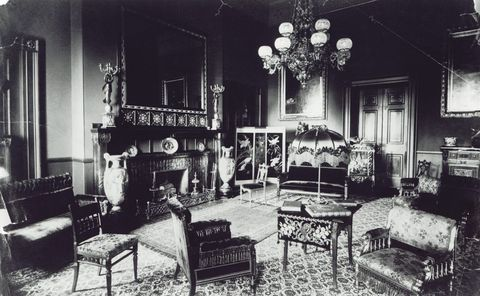 louis comfort tiffany's design of the white house red room, circa 1884 1885