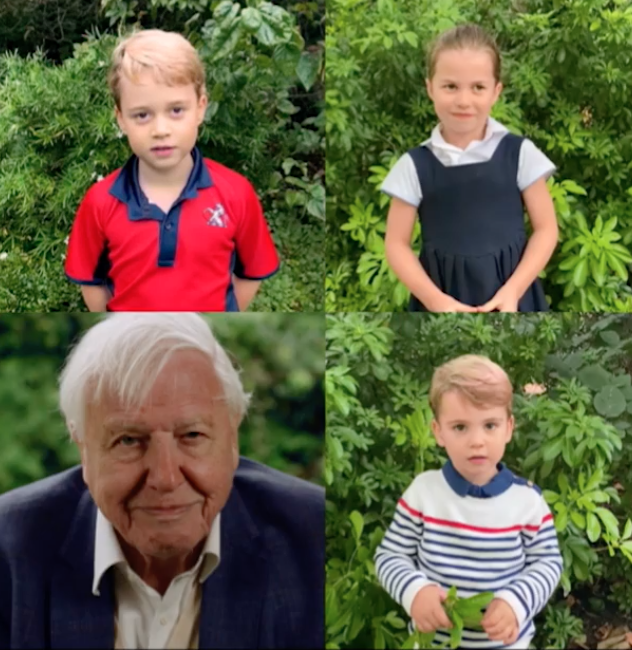 Listen to Princess Charlotte, and Princes George and Louis Sweetly Ask David Attenborough Questions