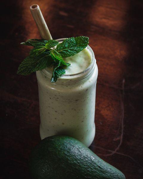 Drink, Green, Food, Smoothie, Lassi, Health shake, Mojito, Irish cream, Cocktail garnish, Milkshake,