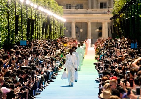 c663697d44e7 image. Getty Images. Today Virgil Abloh staged his first fashion show for Louis  Vuitton ...