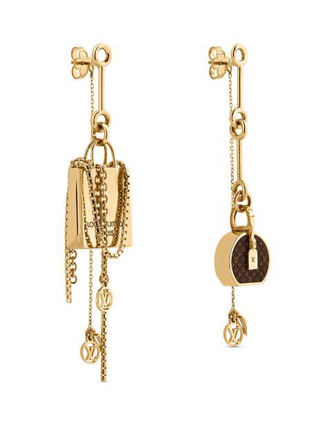 Earrings, Jewellery, Body jewelry, Fashion accessory, Chain, Brass, Jewelry making, Gold, Metal,