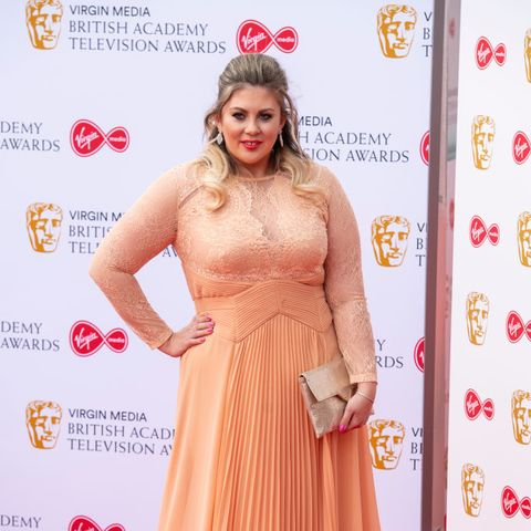 Louise Pentland seen on the red carpet during the Virgin