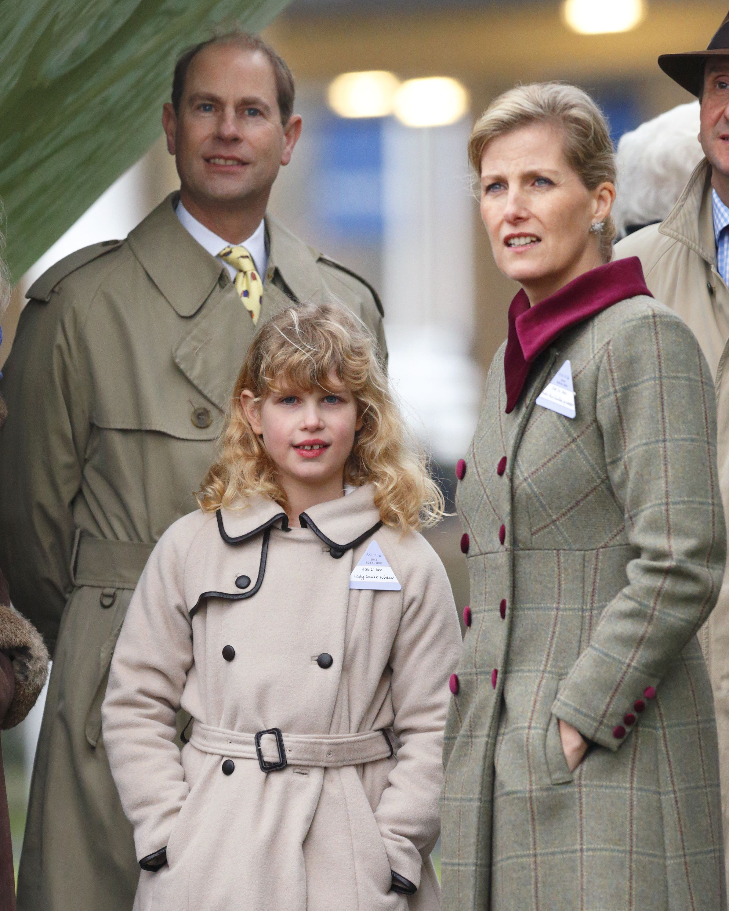 Lady Louise In  With Her Parents Prince Edward And Countess Sophie