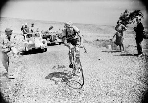 tour de france 1955 the cyclist bobet in action