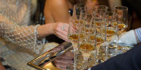 Stemware, Wine glass, Champagne stemware, Yellow, Drink, Drinkware, Alcohol, Champagne, Glass, Distilled beverage,