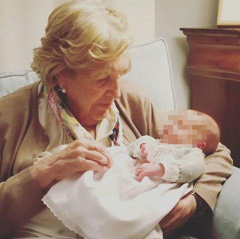 Child, Hand, Grandparent, Birth, Baby,