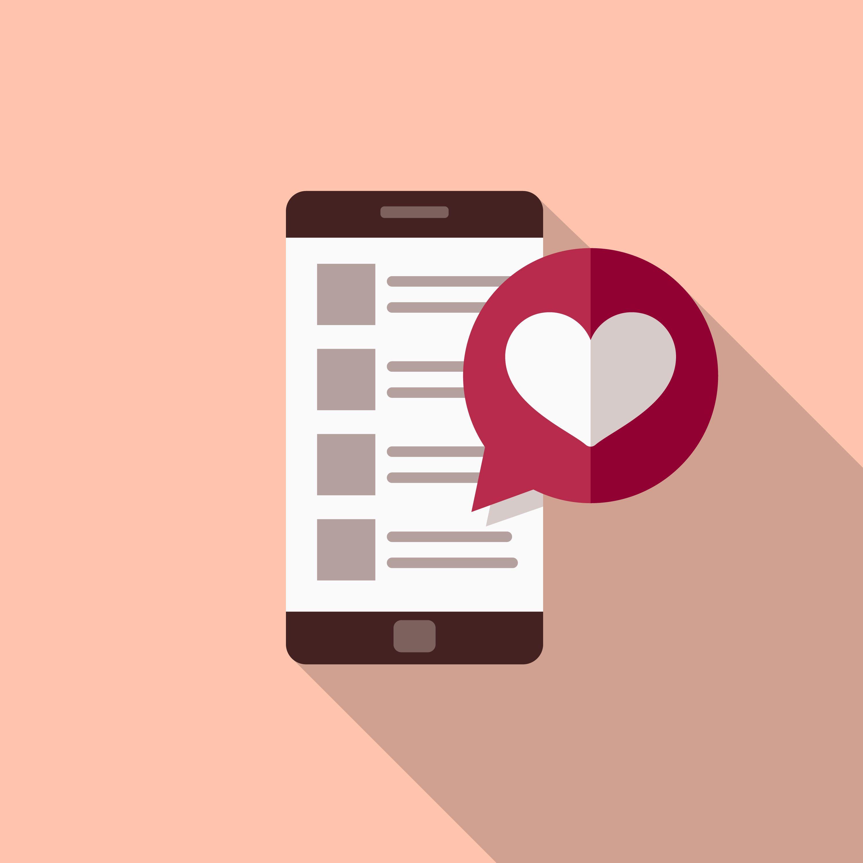 Love Flat Design Valentine's Day Romance Icon
