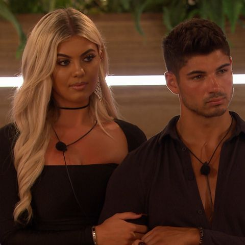 Love Island Day 48 – Anton Danyluk and Belle Hassan during dumping ceremony