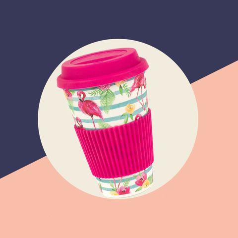 beau look pour toute la famille prix d'usine Eco Friendly Bamboo Dinnerware Cups, Set of 4, Flamingo Print