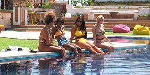 love island swimming pool