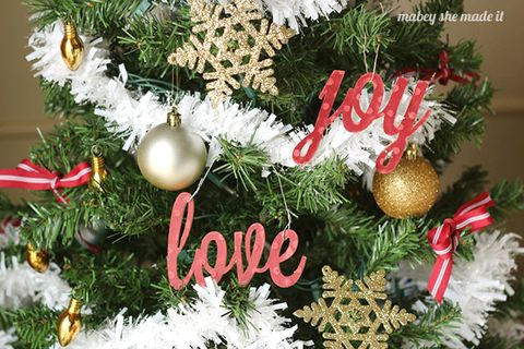 homemade christmas ornaments love and joy - Decorating Christmas Ornaments