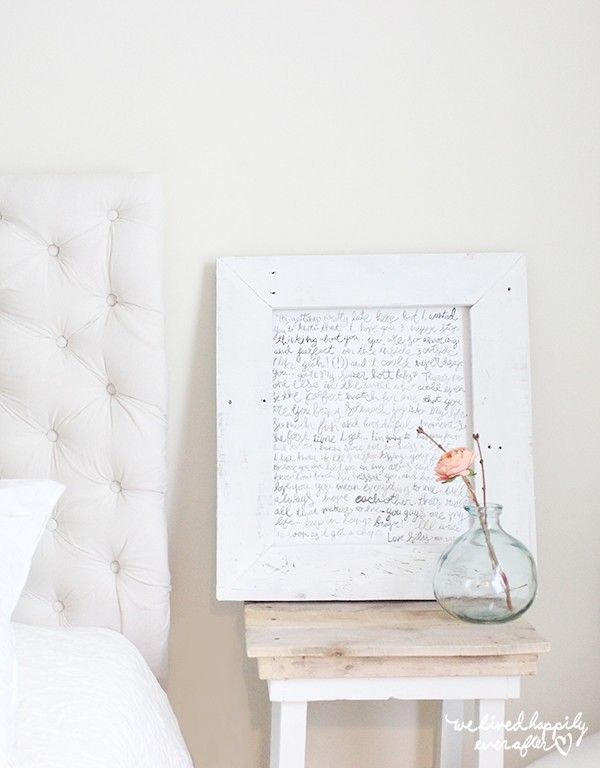 Romantic Love Letter Bedroom Decor