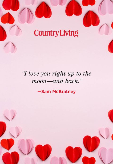 i love you right up to the moon and back