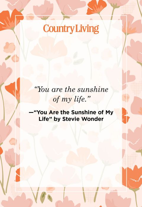 a quote card that says you are the sunshine of my life