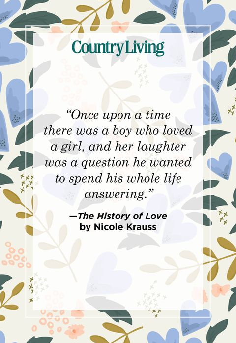 a quote card that says once upon a time there was a boy who loved a girl, and her laughter was a question he wanted to spend his whole life answering