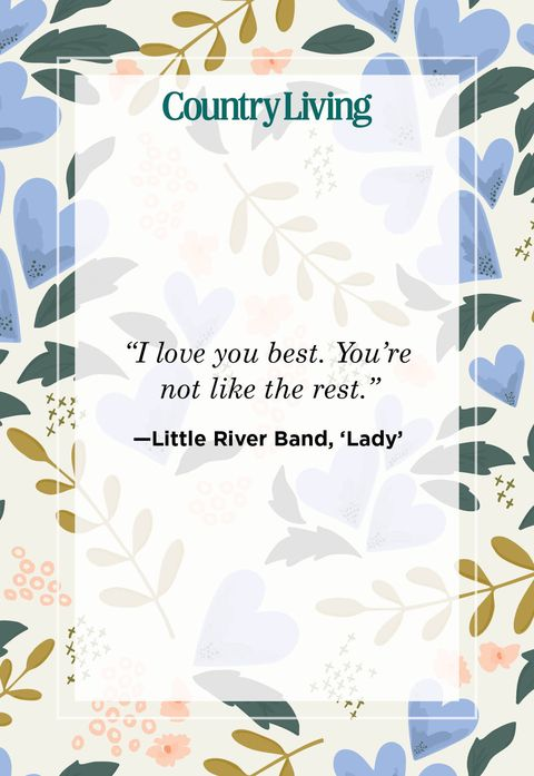 a quote card that says i love you best you are not like the rest