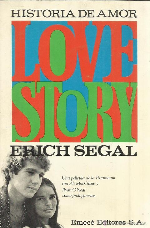 "portada del libro de ""love story"" de erich segal"