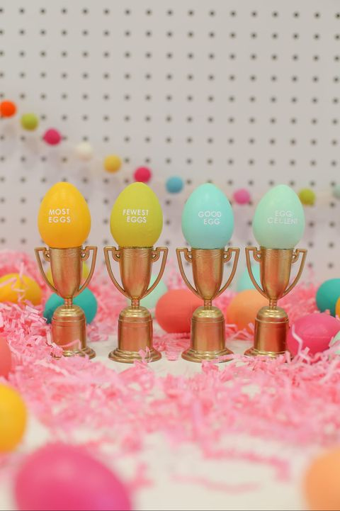 easter egg trophies