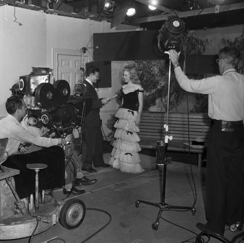 Marilyn Monroe Standing in Front of Camera with Director