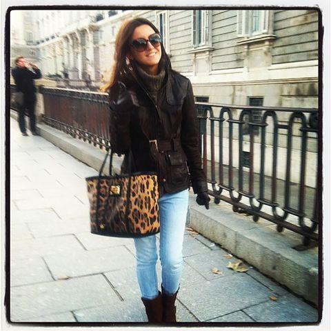 Clothing, Street fashion, Jeans, Shoulder, Beauty, Snapshot, Fashion, Footwear, Brown, Jacket,