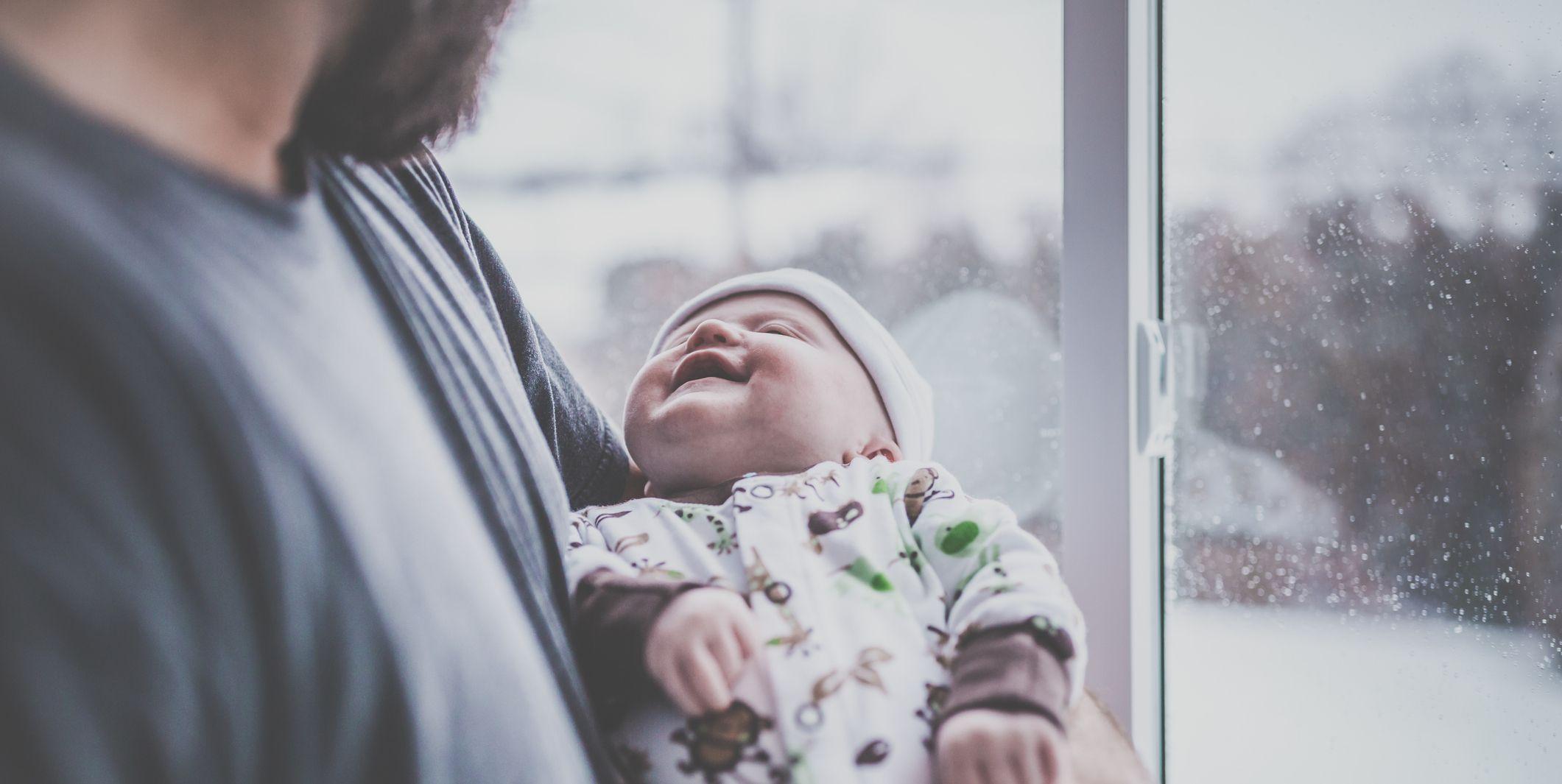 casa segura en invierno para bebés