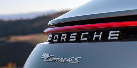2020 Porsche 911 992 Carrera 4S emblem detail