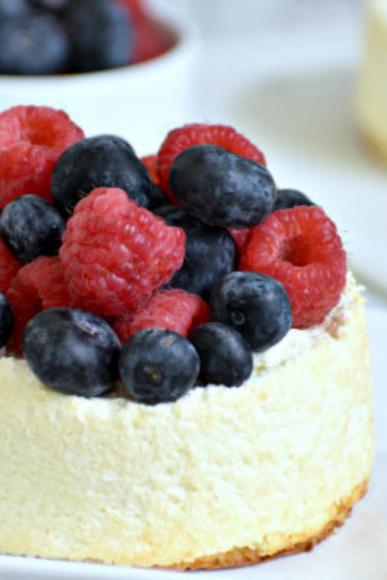 Crustless Air Fryer Cheesecake