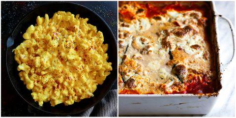 Dish, Food, Cuisine, Ingredient, Comfort food, Macaroni and cheese, Tuna casserole, Macaroni casserole, Cauliflower cheese, Produce,