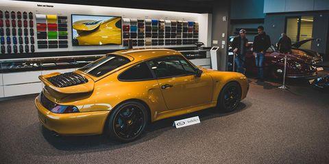 Land vehicle, Vehicle, Car, Yellow, Supercar, Sports car, Automotive design, Performance car, Porsche 911 gt2, Ruf ctr2,