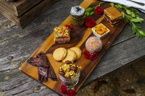 Food, Cuisine, Dish, Table, Dessert, Wood, Ingredient, Mendiant,