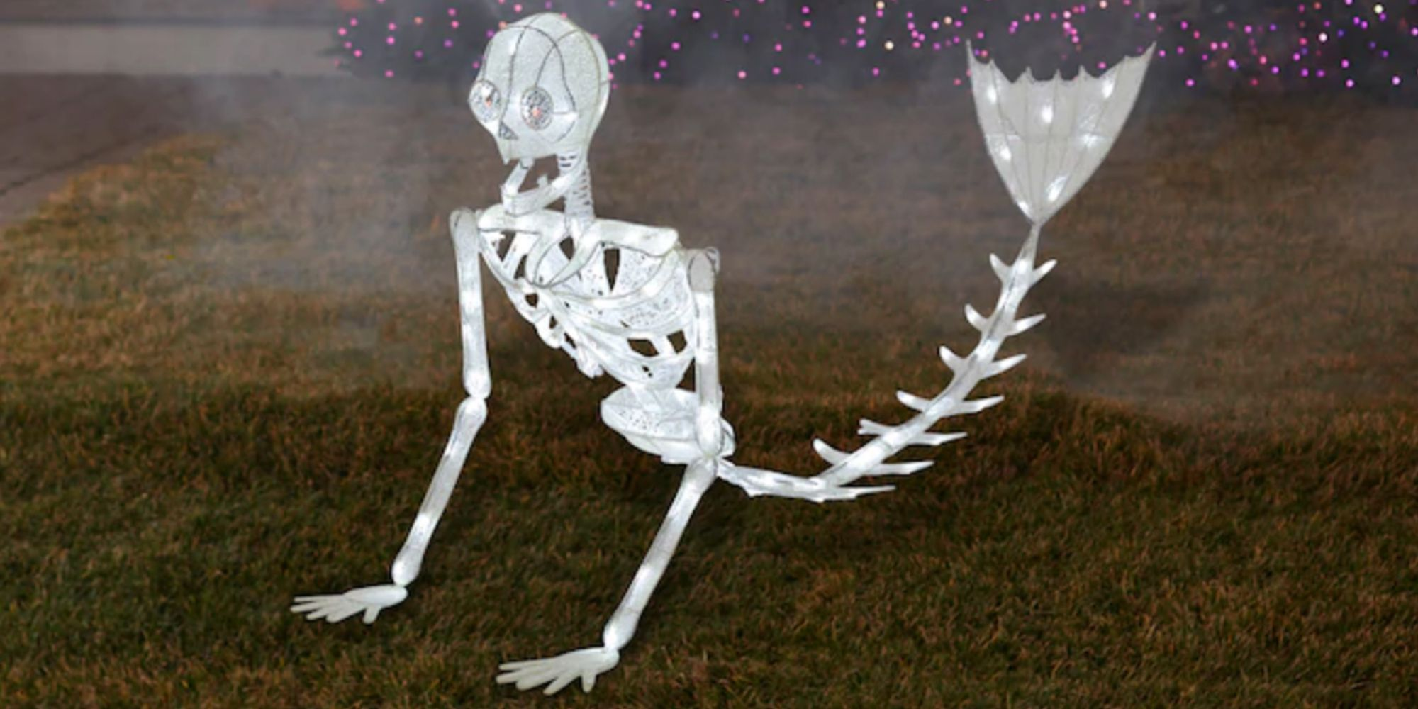 This 5 Foot Glittery Mermaid Skeleton Will Light Up Your Lawn With Under The Sea Vibes
