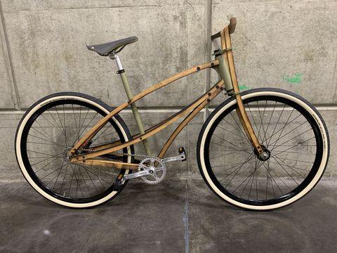 Bicycle, Bicycle wheel, Bicycle frame, Bicycle part, Bicycle tire, Vehicle, Spoke, Bicycle saddle, Bicycle handlebar, Bicycle fork,