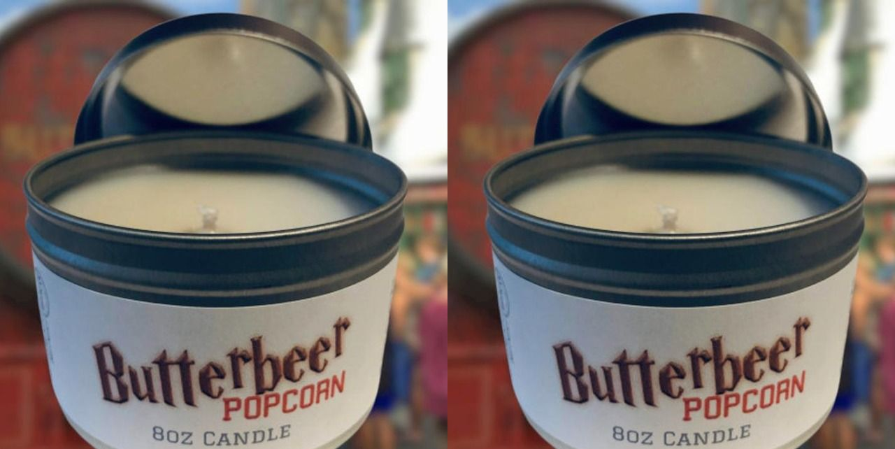 This Harry Potter Butterbeer Candle Has a Popcorn-Scented Twist