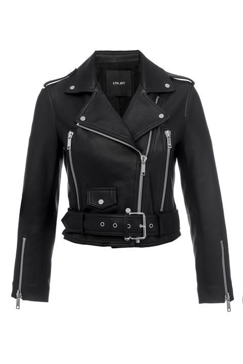 Clothing, Jacket, Outerwear, Leather, Black, Leather jacket, Sleeve, Fashion, Textile, Coat,