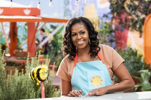 waffles  mochi l to r busy and michelle obama in episode 110 of waffles  mochi cr adam rosenetflix © 2020