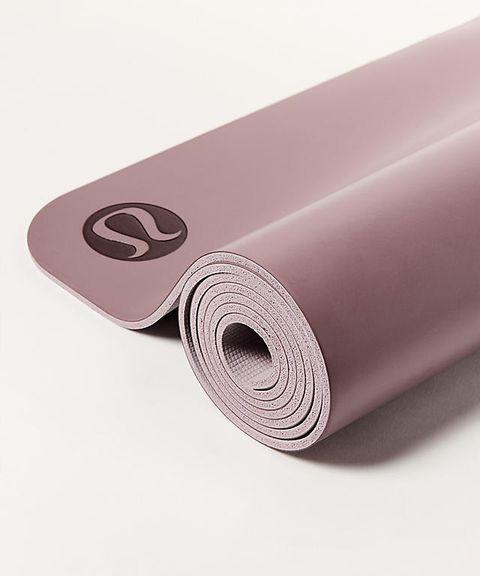 Pink, Yoga mat, Purple, Violet, Mat, Material property, Font, Textile, Sports equipment, Metal,
