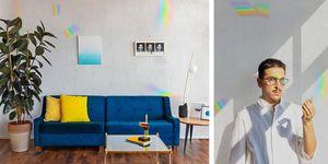Papel pintado arcoíris de Luca Hugo Brucculeri para Coordonne