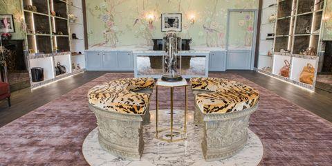 Property, Interior design, Floor, Furniture, Marble, Flooring, Room, Architecture, Table, Museum,