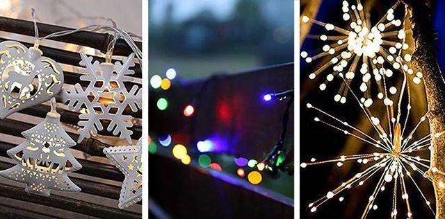 luces de navidad de exterior de amazon