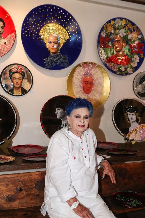 Lucía Bosé partició en la exposición Creativos de Brieva en agosto de 2019.
