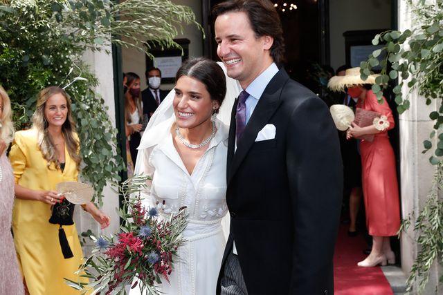 el vestido camisero de novia de lucía martín alcalde en su boda