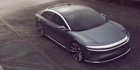 Lucid Air's $60,000, 400-Mile Electric Sedan Will Debut in April