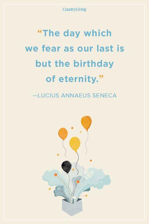 Lucius Annaeus Seneca Birthday Quote