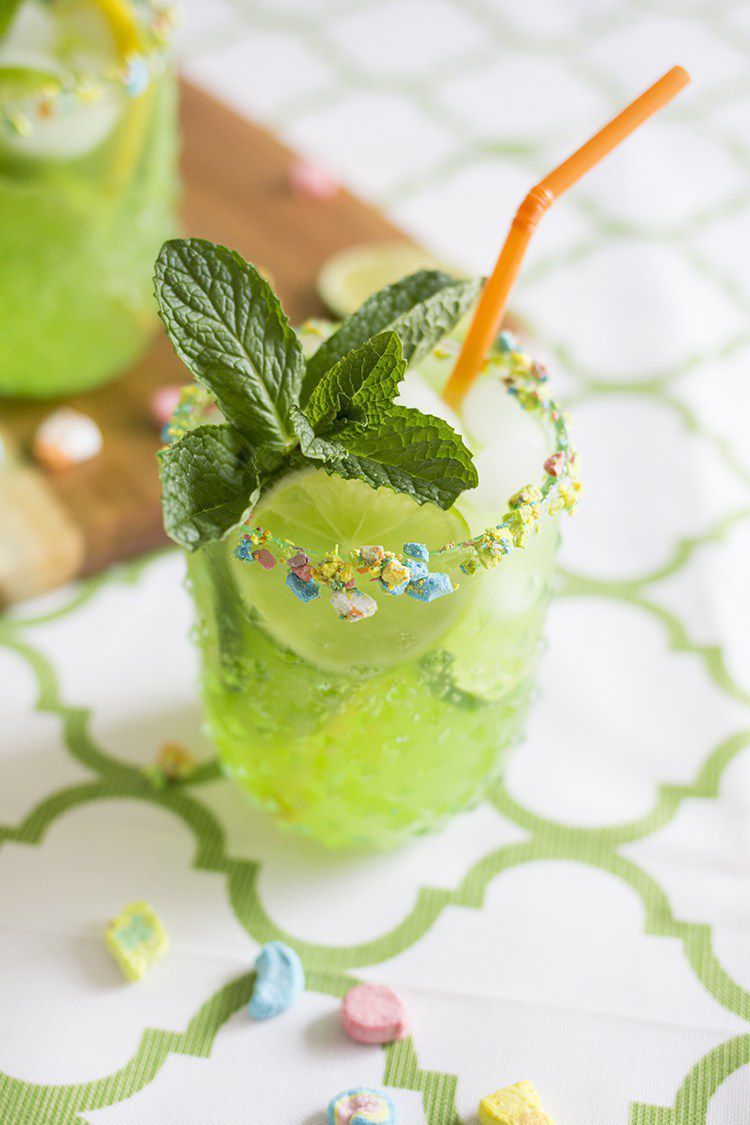 Lucky Leprechaun Rum Punch - St Patrick's Day Drinks