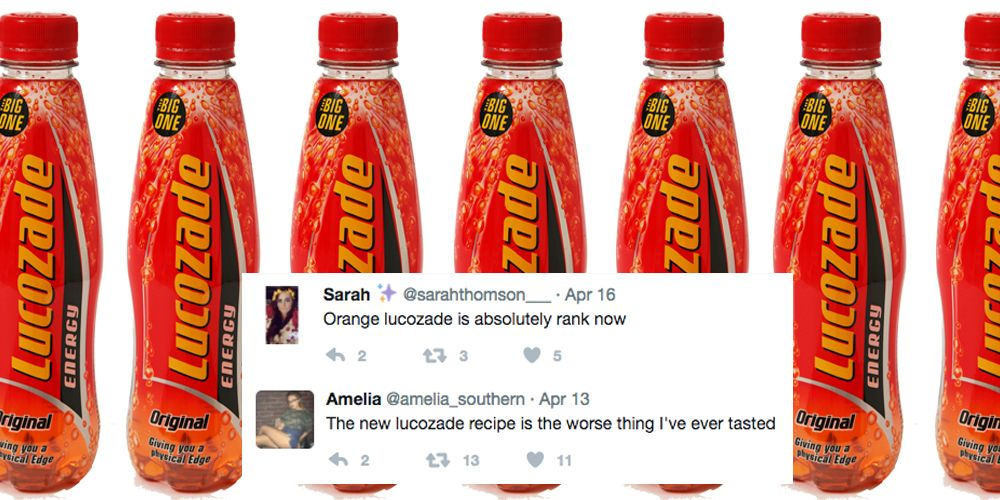 Why your Lucozade might taste weird from now on