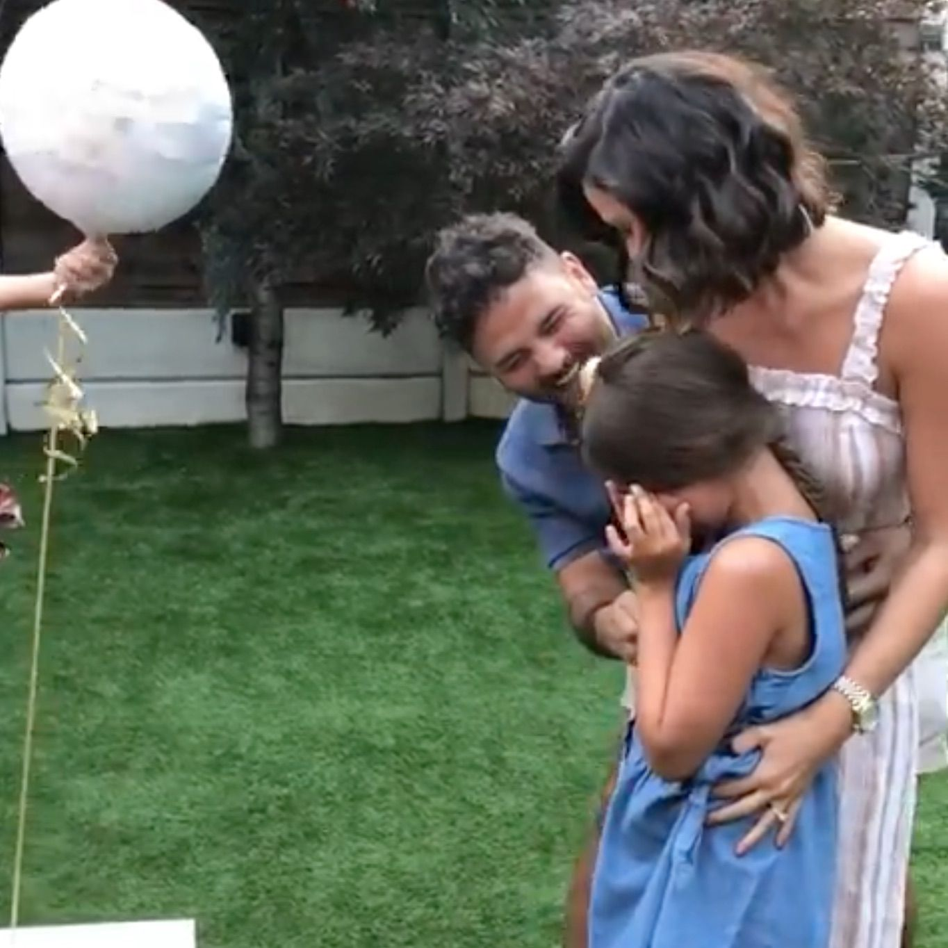 Ryan Thomas shares heartwarming video of the moment daughter Scarlett found out about baby news