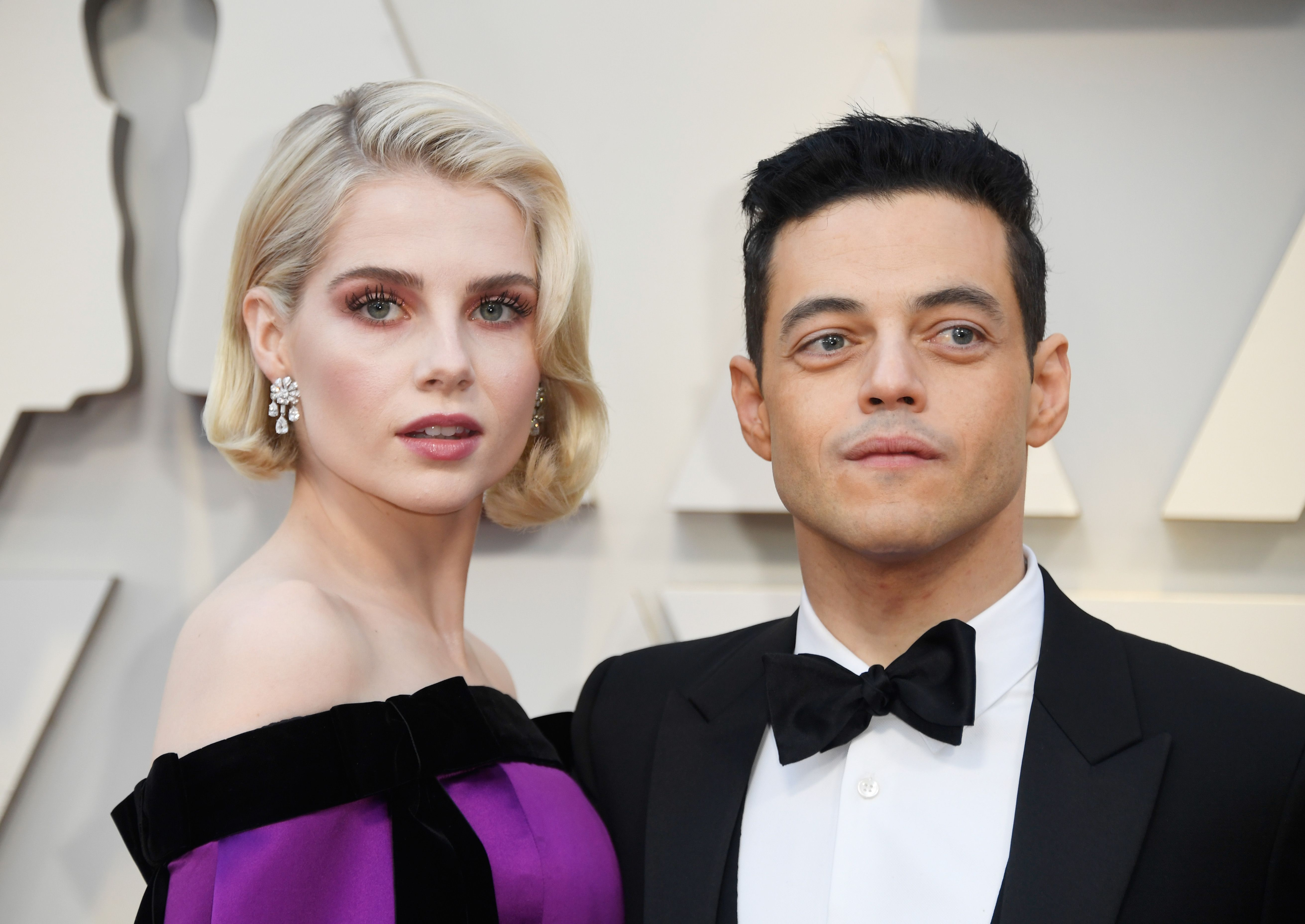 Lucy Boynton and Rami Malek Show Rare PDA at a Madison Square Garden Hockey Game